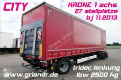 Semirremolque lona corredera (tautliner) Krone SEP CITY GARDINE 1-achs LBW / TRIDEC / BPW !!!!!