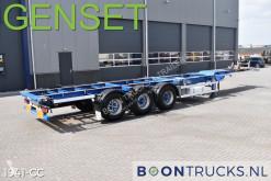 Félpótkocsi Groenewegen 45 CC-16-27 TUN + GENSET | 2x20-40-45ft * 2 x LIFT AXLE használt konténerszállító