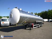 Félpótkocsi Magyar Chemical tank inox 34.6 m3 / 1 comp használt vegyi anyagok tartálykocsi