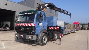 Sættevogn maskinbæreren Mercedes SK 2544 (BELGIAN TRUCK / HIAB 330 - 5 + MOL LOWBED TRAILER 16m EXTENDABLE)