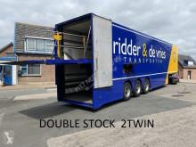 Burg box semi-trailer DOUBLE DECK gesloten oplegger, 3500 kg klep voor 2 lagen