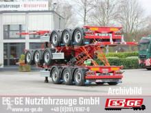 D-tec 3-Achs-Containerchassis Multi semi-trailer used flatbed