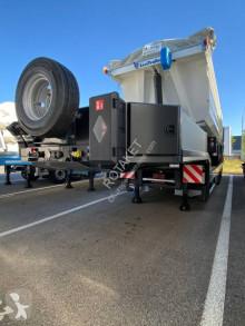 Lecitrailer heavy equipment transport semi-trailer Renforcé 3 essieux 1 auto-suiveur neuve DISPO