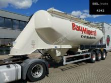 Návěs Feldbinder EUT 40.3 / Lenkachse / 40.000 l cisterna práškový použitý