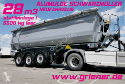 Semiremorca benă Schwarzmüller K serie /ALUMULDE 5500 KG 28m³/ ALU/STAHLEINLAGE