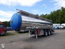 Návěs Feldbinder Chemical tank inox 30 m3 / 1 comp cisterna chemikálie použitý
