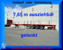 Semi remorque plateau 3 Achs Auflieger, 7,65 m ausziehbar,gelenkt