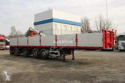 Schwarzmüller CRANE/KRAN semi-trailer used flatbed