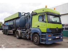 Renders tanker tractor-trailer Mercedes Vacuum Tank Combi 28.100 Liter ADR IPSAM Tank RVS Tipper