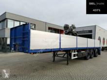 Návěs plošina bočnice Floor FLO-17 28K1 / Rollkran HIAB / Nachlauflenkachse