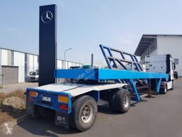 Krämer heavy equipment transport semi-trailer Krämer SNLL20-2/1 Schräglader BPW-Achsen Funk