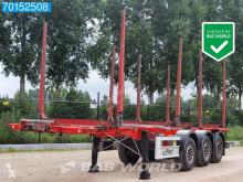 Semirremolque maderero Fliegl SDS Rungen Stahl Holztransport Liftachse