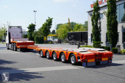 Návěs nosič strojů Kässbohrer Lowbed LB5E – extended, 5 SAF axles, 2 steering axles, DMC 81.000 kg, extended, widened