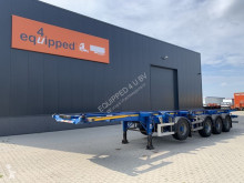 Semi remorque porte containers TOP: 4 axles combichassis, 2 liftaxles, BPW-drumbrakes, MOT: 04/2022, 3x availabe