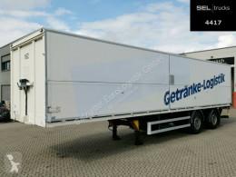 Semirimorchio cassone trasporto bibite System Trailer / TRIDEC Lenkachse / Ladeborwand