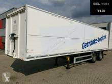 Beverage delivery flatbed semi-trailer System Trailer / TRIDEC Lenkachse / Ladeborwand