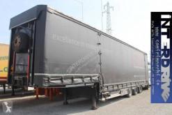 Semirimorchio trasporto macchinari Meusburger carrellone collo d'oca centinato buche rampe usato