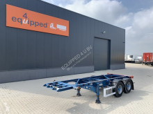 Semitrailer Turbo's Hoet 20FT Chassis, BPW+drumbrakes, empty weight: 2.750kg containertransport begagnad