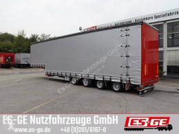 Tarp semi-trailer Es-ge 4-Achs-Satteltieflader mit Curtainsider-Aufbau