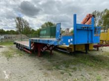 Semitrailer 3 Achs Satteltieflader Platofür Fertigteile ode platta begagnad