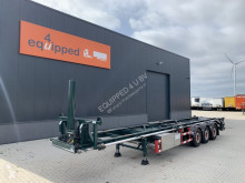 Semirremolque portacontenedores LAG 40FT Tipping-chassis, SAF-disc, liftaxle, hydraulic pump, Alcoa