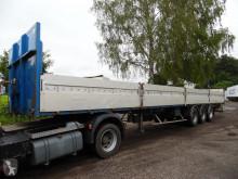 Flatbed semi-trailer 3-asser luchtgeveerd met trommelremmen