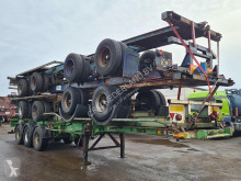 Semi remorque Krone SDC24ETC Container chassis 40ft. / 30ft. / 20ft. / Steel suspension porte containers occasion
