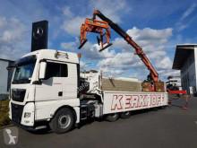 Langendorf SSH 20/25 Kran Atlas AK 300.1.V Zange Bordmatik semi-trailer used flatbed