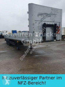 Kögel heavy equipment transport semi-trailer SN 24 Plateau mit Bordwände