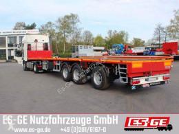 ES-GE flatbed semi-trailer Es-ge 3-Achs-Sattelauflieger - teleskopierbar