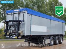 Stas SA343K 56m3 / 5 / Schnecke / Lift+Lenkachse Alukipper semi-trailer used cereal tipper
