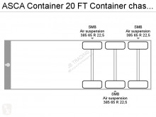 View images Asca Container 20 FT Container chassis semi-trailer