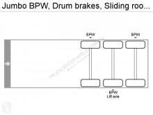 Voir les photos Semi remorque Jumbo BPW, Drum brakes, Sliding roof, Loadinglift, Lifting axle, Truckcenter Apeldoorn