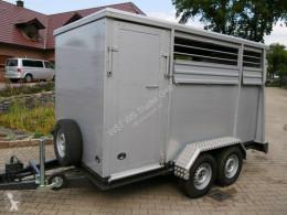 Pótkocsi Menke Alu Aufbau használt állatszállító pótkocsi