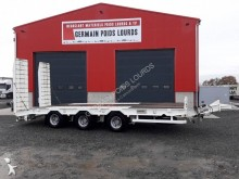 Louault heavy equipment transport trailer Plateau 3 essieux centraux
