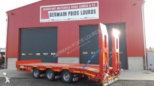 Louault heavy equipment transport trailer 3 essieux centraux