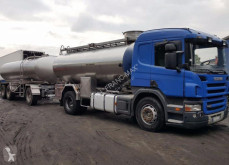 Remolque cisterna Scania R 420 MAGYAR DO MLEKA 12 000 L + PRZYCZEPA 16 000 L