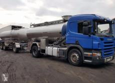 Reboque Scania R 420 MAGYAR DO MLEKA 12 000 L + PRZYCZEPA 16 000 L cisterna usado