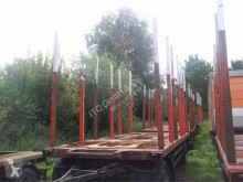 Reboque transporte de madeira Schwarzmüller Holzanhänger mit Exte Rungen German