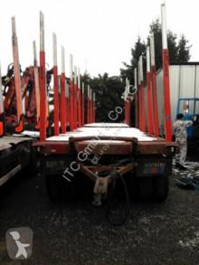 Schwarzmüller Holzanhänger mit Exte Rungen trailer used timber