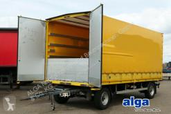 Reboque caixa aberta com lona nc SCHUTZ LA 10 t., 6,3 m. lang, Durchlader, Luft