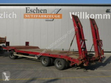 Langendorf heavy equipment transport trailer TUE 24/100-3, hydr. Rampen, Blatt, BPW