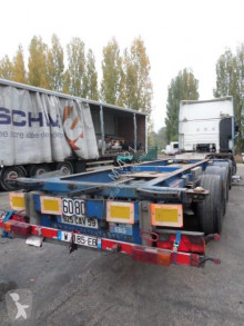 Remorque Renders B34331 porte containers accidentée