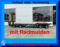 remorque Müller-Mitteltal 4 Achs Tieflader- Anhänger mit Radmulden