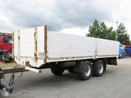 Dinkel dropside flatbed trailer Tandemanhänger Baustoffpritsche, Stirnwand erhöht