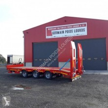 Louault 3 essieux centraux trailer used heavy equipment transport