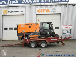 Obermaier T 4035 Tandem Tieflader Lange Rampen trailer used heavy equipment transport