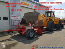 Fliegl ZTS200 Tieflader Land + Baumaschinen 30cm Höhe trailer used heavy equipment transport