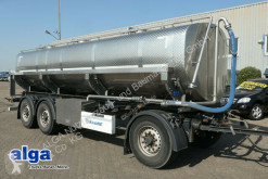 Krone tanker trailer AD, Alu, 18m³, Lebensmittel, 3 Kammern, Scheibe