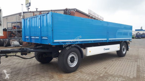 Krone dropside flatbed trailer 2-achs Anhänger AZP 18 E Baustoffanhänger 7,3m